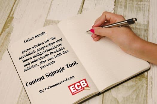 Content Signage einsetzen