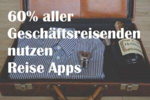 Geschäftsreisende nutzen Reise Apps