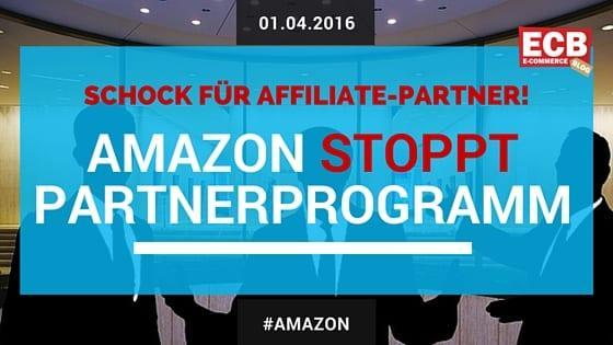 Amazon stoppt Partnerprogramm