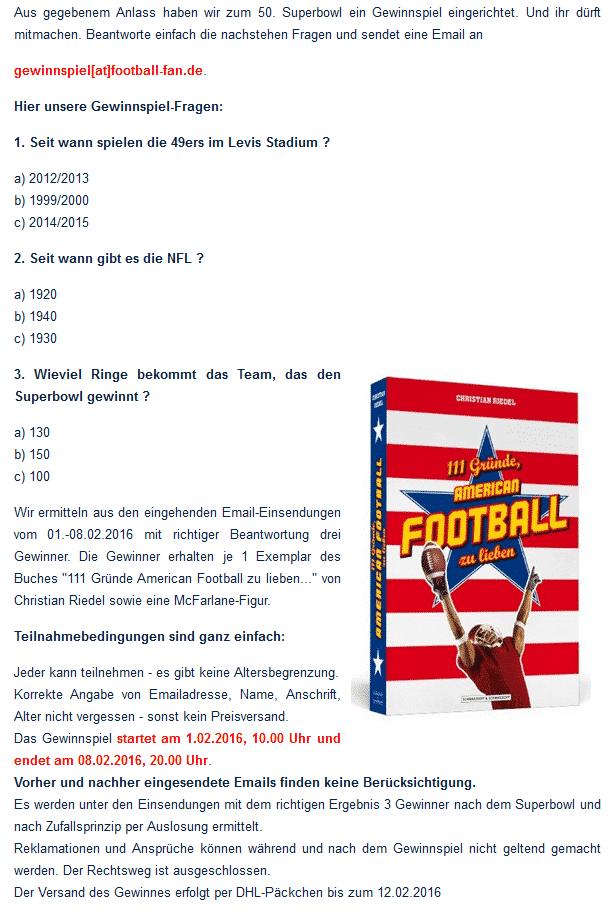Football-Fan.de Gewinnspiel