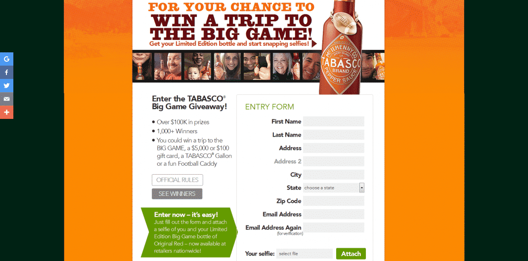 Tabasco Gewinnspiel
