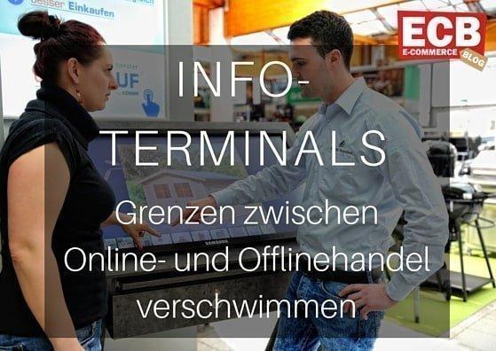 Infoterminals im stationären Handel