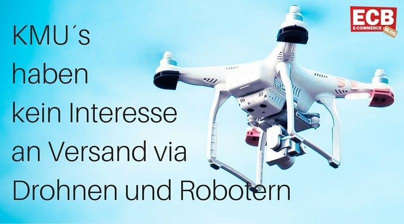 Versand via Drohnen und Paketrobotern