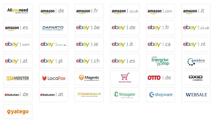 von emMida unterstützte Online Marktplätze