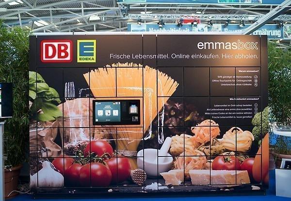 Abholstation für Pakete von der Deutschen Bahn
