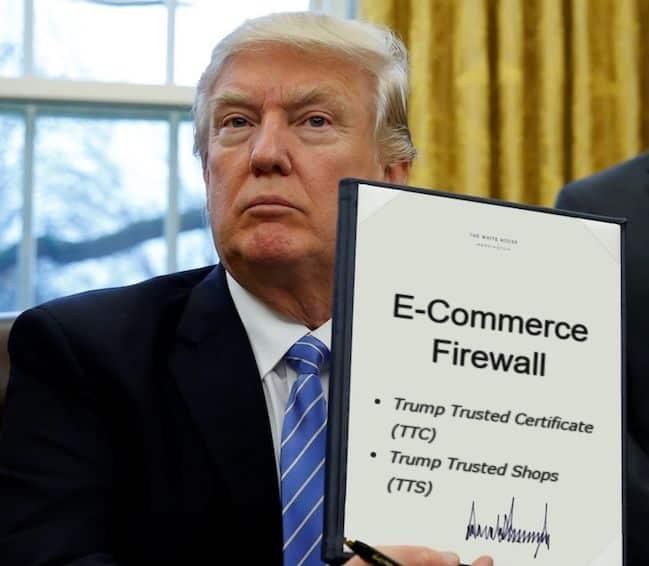Schock: Trump baut E-Commerce Firewall - Shopbetreiber reagieren zu Recht panisch 1