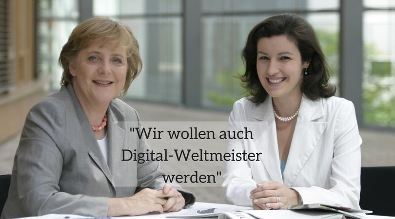 Staatsministerin für Digitalisierung, Dorothee Bär, mit Bundeskanzlerin Dr. Angela Merkel