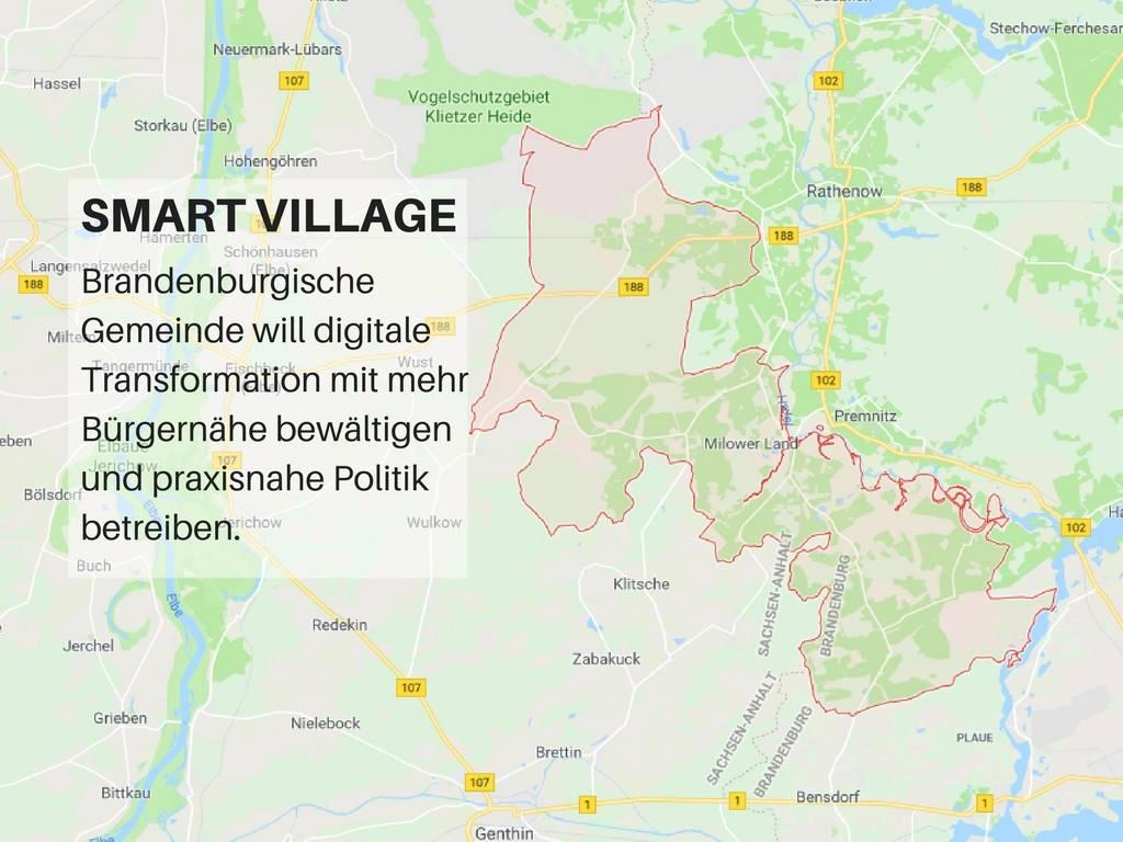 """Gemeinde Milower Land möchte von der Digitalisierung profitieren und nimmt daher am Wettbewerb """"Smart Village"""" der Landesmedienanstalt Berlin-Brandenburg teil."""