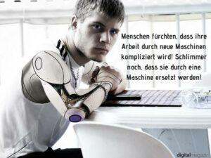 Die Angst der Arbeitnehmer von Maschinen ersetzt zu werden