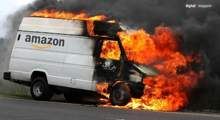 Brandanschläge auf Amazons Lieferwagen in Berlin