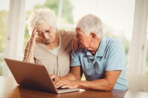 Ältere Menschen Internet