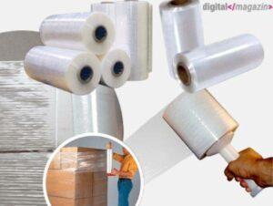 Kunststofffolie, die als Stretchfolie oder Palettenwickel bekannt ist