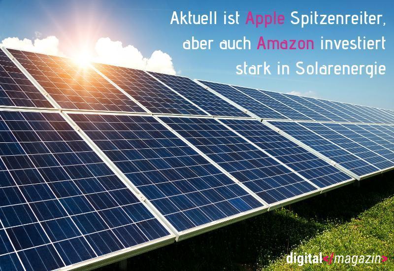 Technologieunternehmen setzen auf Solarenergie