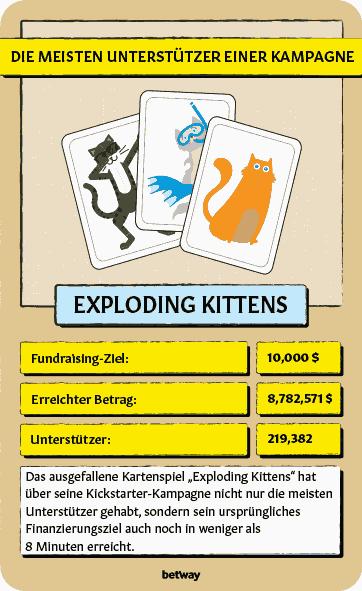 Exploding Kittens Kickstarter Kampagne