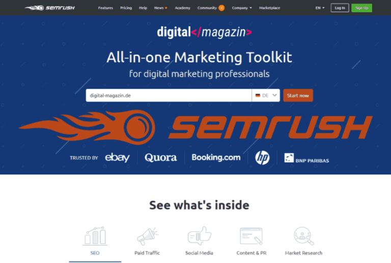 semrush - was kann das Online Marketing Tool?