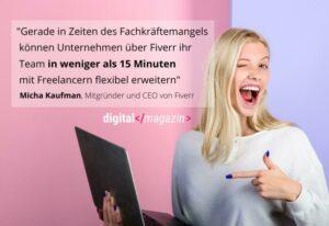 Freelancer verändern die digitale Welt – Fiverr erweitert sein Angebot