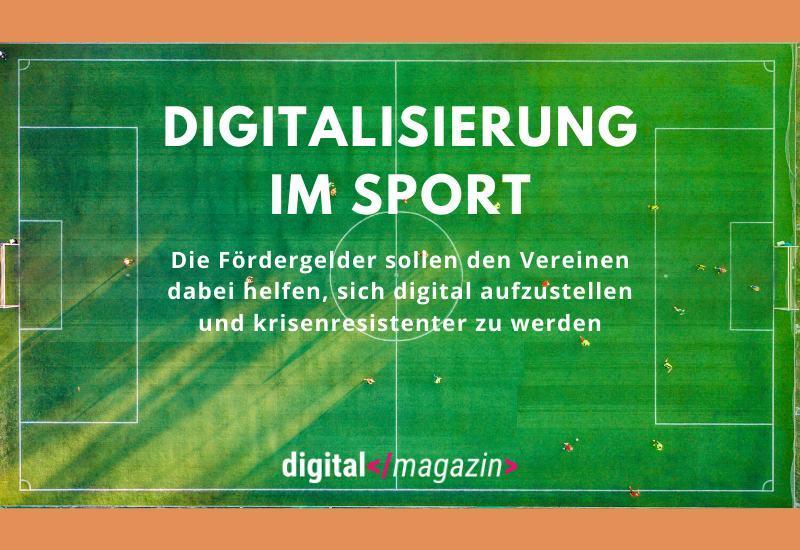 Förderprogramm für digitale Sportprojekte – Vereine bekommen Unterstützung