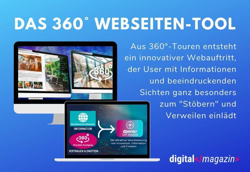 Weltneuheit: Das 360° Webseiten-Tool von VR-easy.com