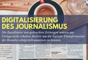 Journalismus ist während der Digitalisierung auf gedruckte Zeitungen angewiesen