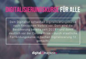 Deutschland auf Fortbildung – Digitalrat fordert Digitalisierungskurse