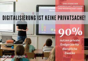 Lehrer nutzen für die Digitalisierung meist private Geräte