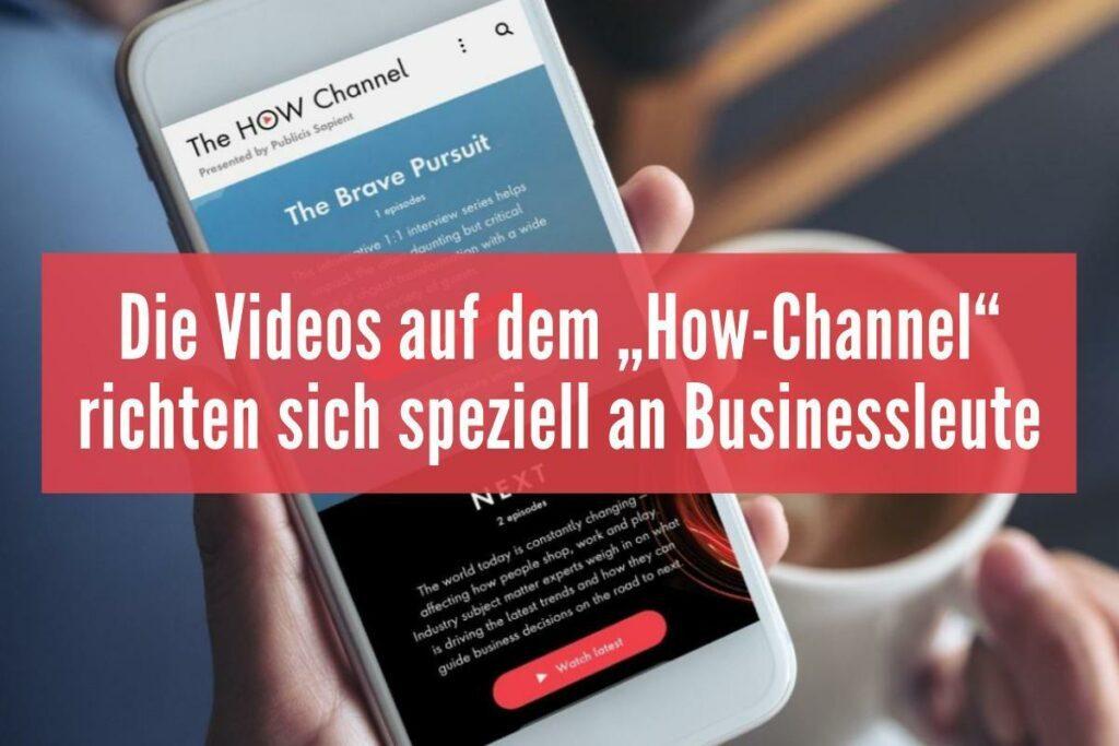 """Neuer Streaming-Dienst """"How-Channel"""" hat die digitale Transformation zum Thema"""