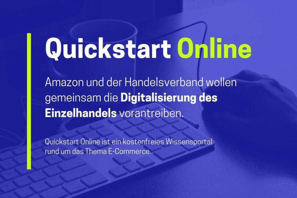 Quickstart online – Amazon und Handelsverband kooperieren