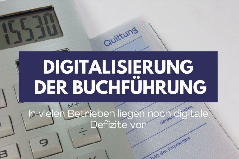 Quittungsblock ade – Digitalisierung der Buchführung nimmt zu