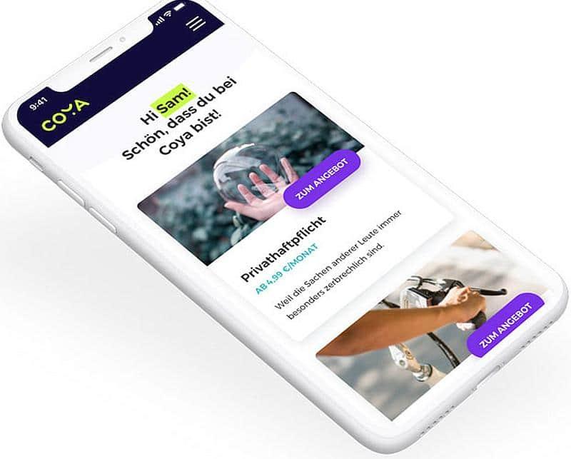digitales Dashboard für Versicherungsnehmer