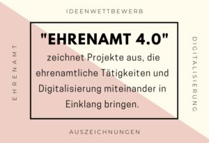 """Zehn Projekte beim Ideenwettbewerb """"Ehrenamt 4.0"""" ausgezeichnet"""