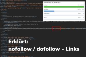 nofollow / dofollow Links erklärt