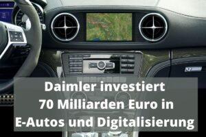 Daimler / Mercedes E-Auto Digitalisierung