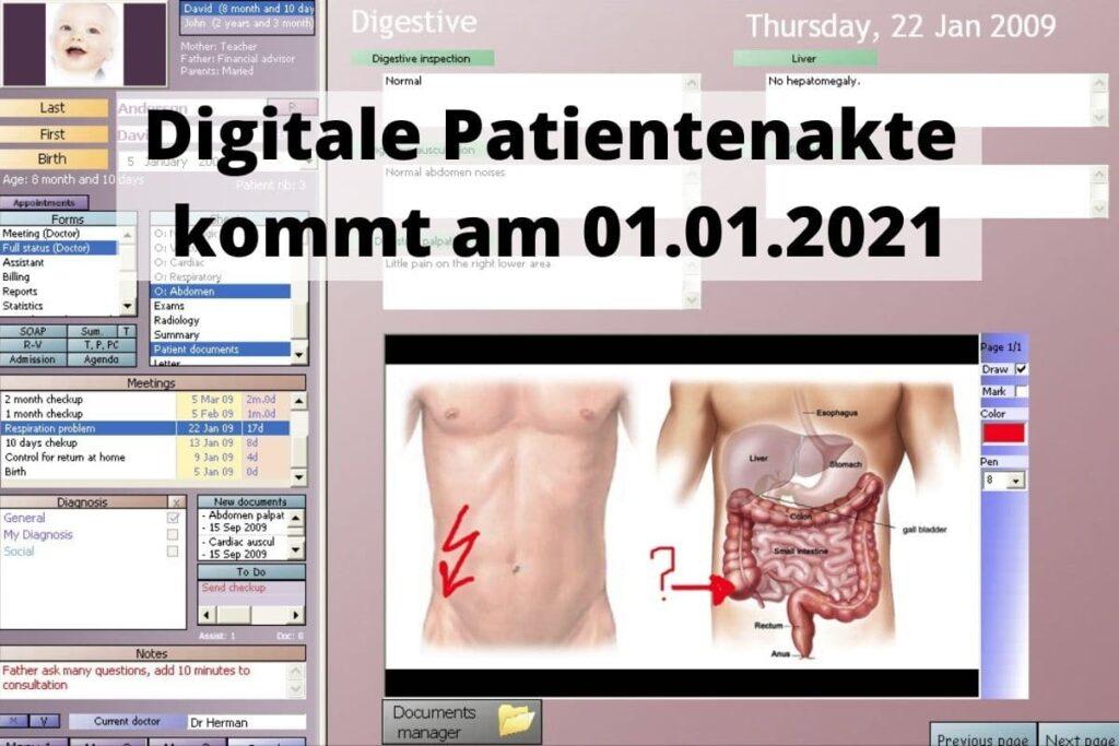 Digitale Patientenakte kommt am 01.01.2021