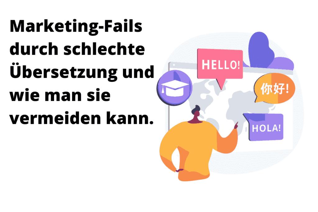 Marketing Fails wegen schlechter Übersetzung