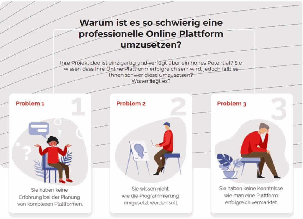 online-Plattform-Probleme